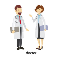 Doctors staff couple.