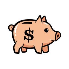 Cartoon Piggy Bank