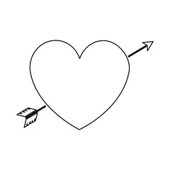 heart with arrow icon vector illustration design