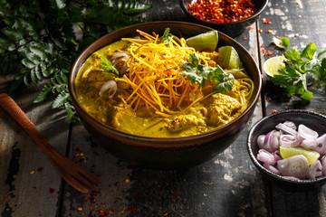 khao Soi, Soupe Thaï Epicée aux Nouilles et Curry, Chiang Mai
