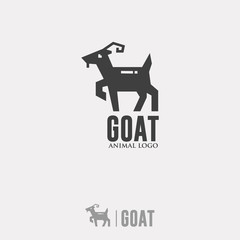 GOAT LOGO. Silhouette Animal Icon