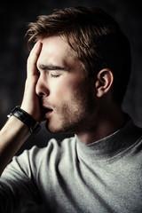 thinking hard about something