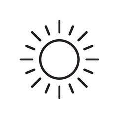 sun icon Vector illustration, EPS10.