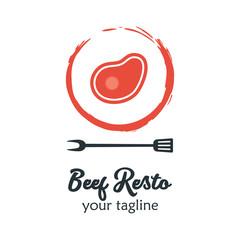 Modern Food Logo Design Template Vector Illustration. Suitable for Summer celebration, Restaurant Logo, Barbecue Party