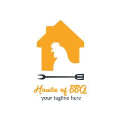 Modern Food Logo Design Template Vector Illustration. House of Food Logo for restaurant, cafe, cooking business