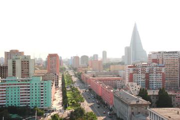 Aerial view of Pyongyang