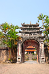 Ancient stone gate in Minh Mang Tomb, Hue, Vietnam