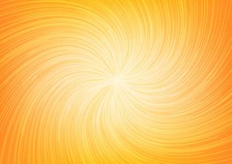 White Light Twist Line Burst Ray on Orange Background