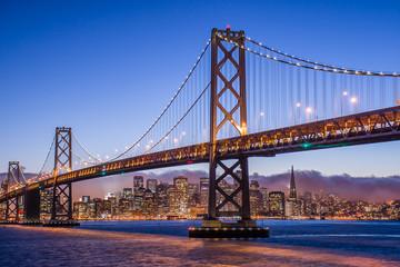 San Francisco and the Bay Bridge