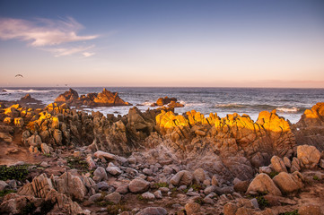 Pebble Beach at Sunrise