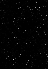 Clusters of star in the dark sky. Black background. Vector illustration