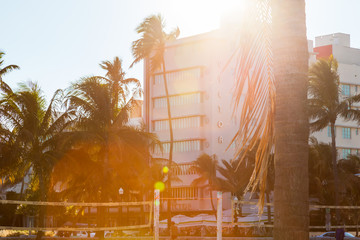 Ocean drive in South beach Miami, Florida.