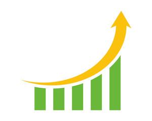 arrow chart graph diagram image vector icon logo symbol