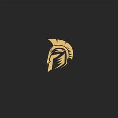Golden Spartan vector illustration design