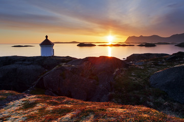 Wall Mural - Sunset in Norwegian coast,Senja