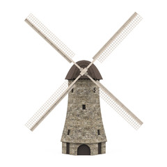 Dutch Windmill Isolated