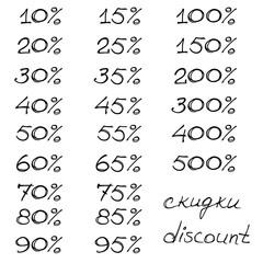 Figures of discount in penscript