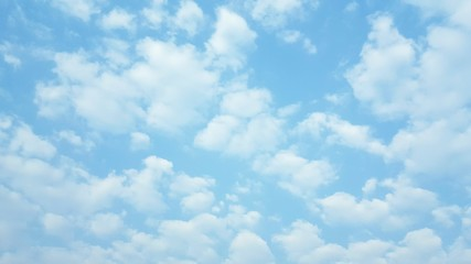 Many white clouds floating  in the blue sky background,meteorolog