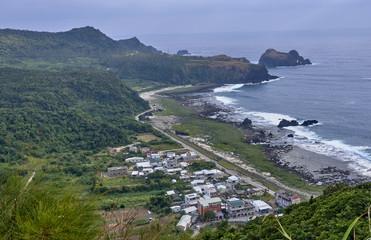 View of the island of Lu Dao english name Green Island (Taiwan)
