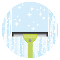 Cleaning windows service. Vector icon.