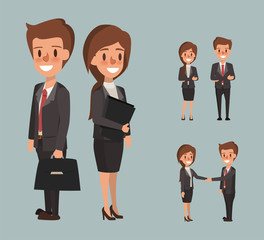 business man and business woman character. business people character.