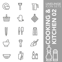 High quality thin line icons of cooking, kitchen and food. Linelinge are the best pictogram pack unique linear design for all dimensions and devices. Stroke vector logo symbol and website content.