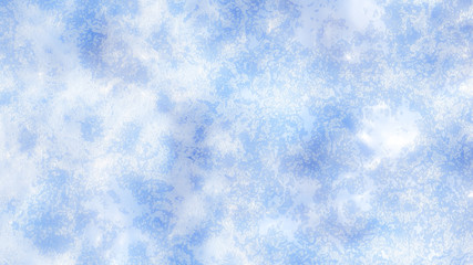 Winter, Christmas background with beautiful texture of snow and ice. 3d illustration, 3d rendering.