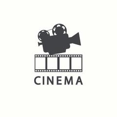 Cinema logo. Vector movie emblem template