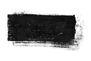 Isolierter schwarzer unordentlicher Farbstreifen