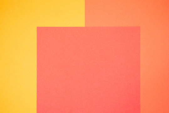Yellow and orange color paper, abstract background