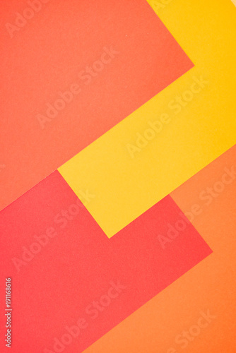 Yellow Red And Orange Color Paper Abstract Background