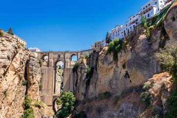 Famous Ronda Bridge at Andalusia, Spain.