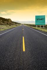 Start road sign