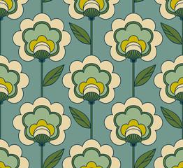 motif floral rétro sans soudure