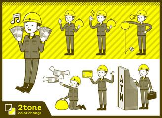 2tone type helmet construction worker men_set 11