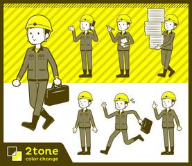2tone type helmet construction worker men_set 02