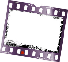 Wall Mural - frame of film, grungy photo frame, free space for pix, vector
