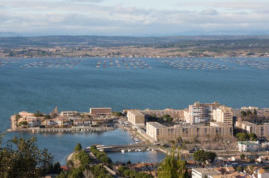 Vue de Sete - Herault -Occitanie