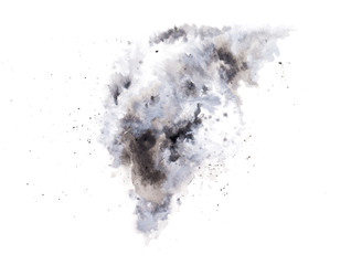 abstract gray watercolor