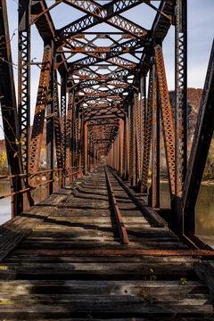 Abandoned & Rusty Coxton Railroad Bridge - Luzerne County, Pennsylvania