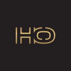initial letter logo line unique modern, gold color