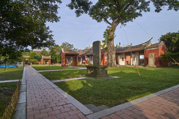 Park in front of the Confucian Temple in Tainan (Taiwan)