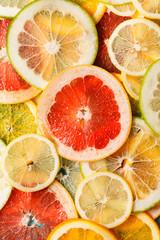 citrus slices closeup