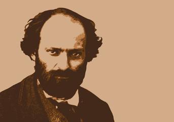 Cézanne - peintre - portrait - personnage historique - artiste peintre - personnage célèbre Wall mural