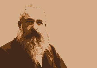 Monet - peintre - portrait - personnage historique - Claude Monet - artiste peintre