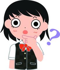 短髪パッチリ目の女子生徒 ?