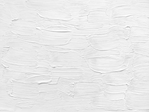 White background. Oil paint. Texture of brush strokes.
