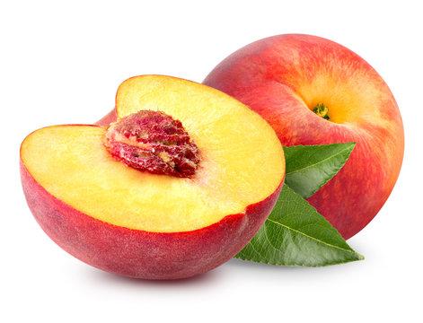 Peach fruit slice