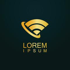 gold wifi radar logo