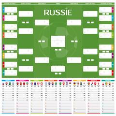 Tableau des Matches - RUSSIE 2018